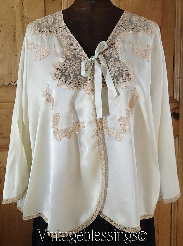 Fine Vintage Lingerie Alencon Lace Bed Jacket Luxurious 1940s Glamour Girl  Vintageblessings