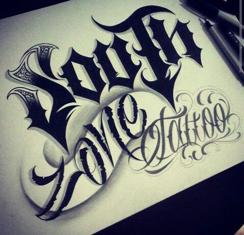 Gangster Letters South Zone Tattoo