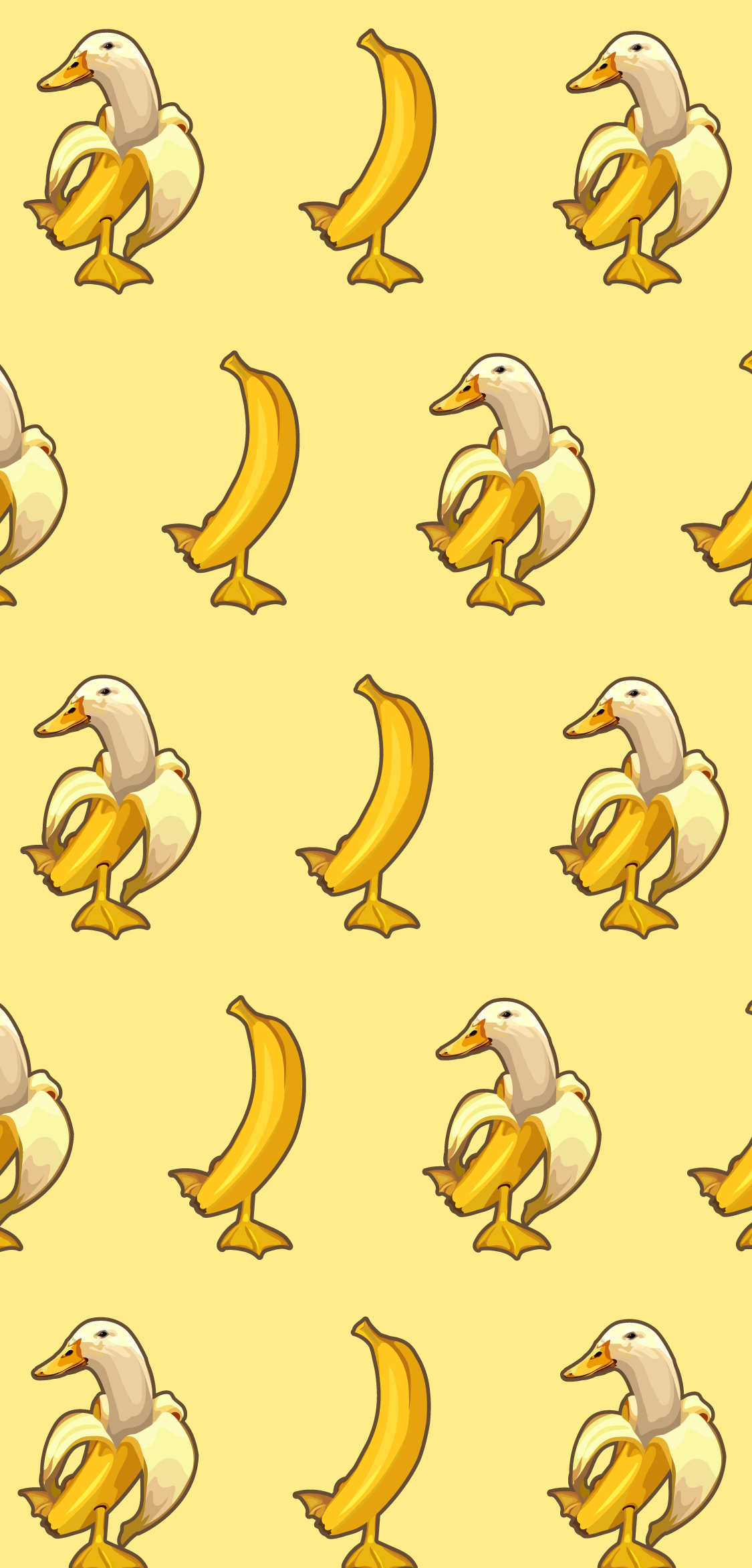Banana Duck Meme Phone Wallpaper Cute Simple Wallpapers Funny Phone Wallpaper Cute Patterns Wallpaper