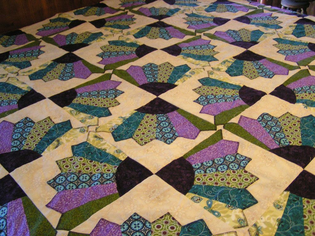 Vintage Fans Patchwork Twin Size Quilt Quilts Dresden Plate Quilts Dresden Quilt