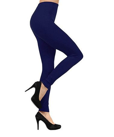 Look what I found on #zulily! Navy Fleece-Lined Leggings - Plus Too #zulilyfinds