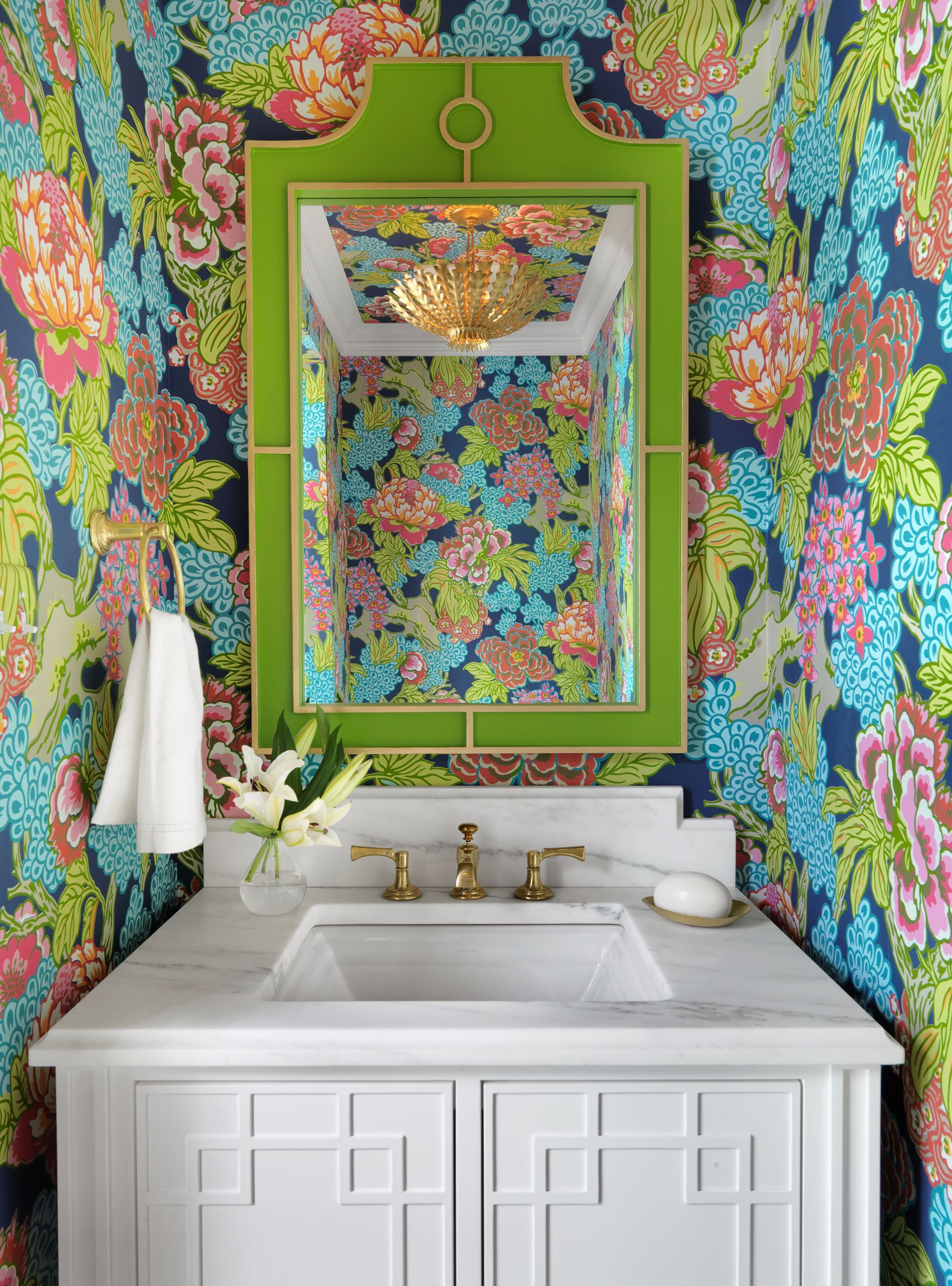 """Powder Room By Amy Kartheiser Design: See More Of Amy Studebaker Design's """"Westbury Hill"""" On"""