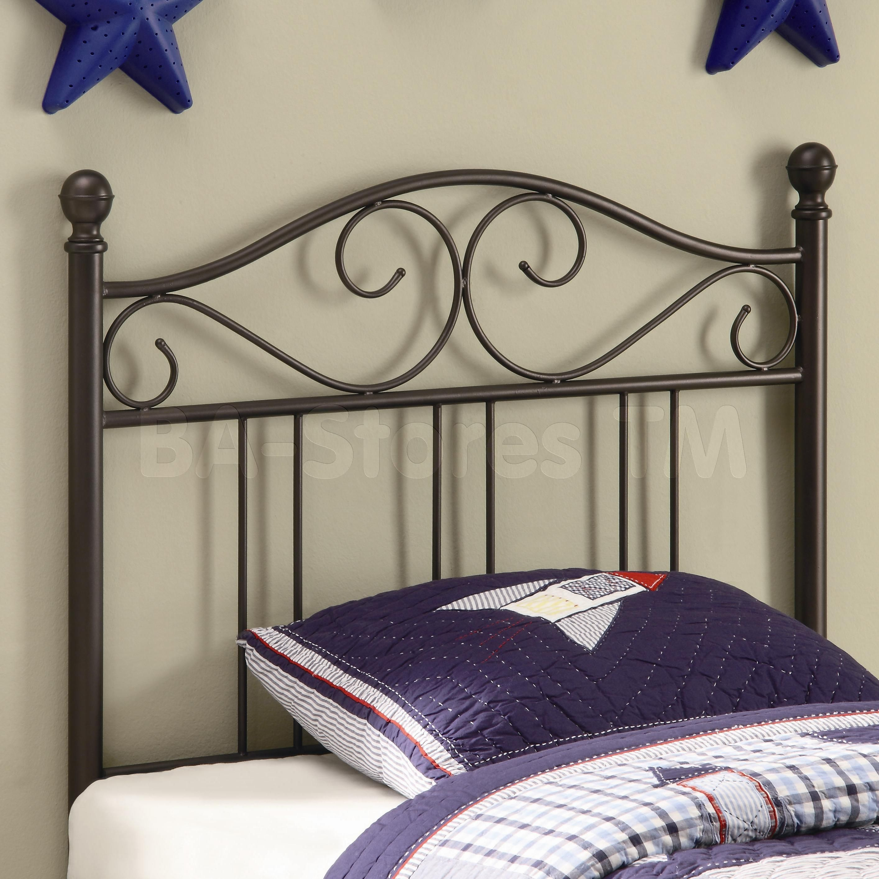 Transitional Twin Metal Headboards Ideas With Cushions And Comforter ...