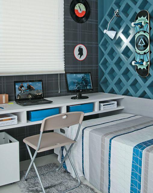 DORMITORIOS PARA JOVENES VARONES bau Pinterest Dormitorios - Decoracion De Recamaras Para Jovenes Hombres