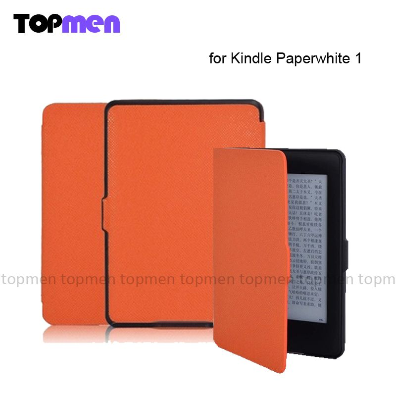 $9.88 (Buy here: http://appdeal.ru/8o34 ) New Ultra-slim Magnet PU Leather Paperwhite Case pouch cover for Kindle Paperwhite 1 9 color Wholesale 1pcs/lot Free Shipping for just $9.88