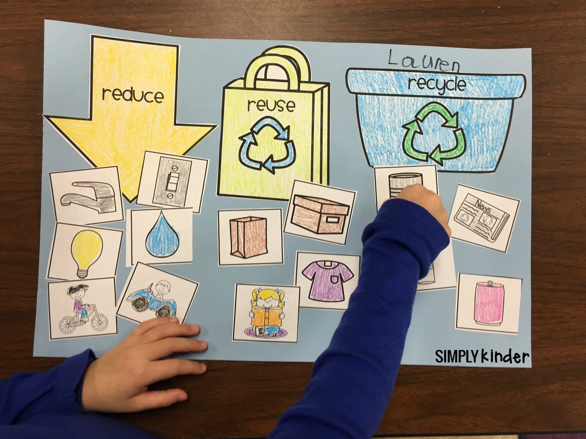 Recycling Worksheets For Kindergarten Free Recycling Sort