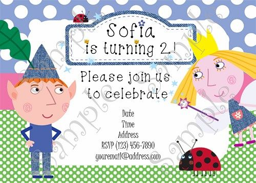 Ben And Holly S Little Kingdom Ben And Holly S Little Kingdom Invitation Ben And Holly S Little Kin Ben And Holly Party Ideas Ben And Holly Fairy Invitations