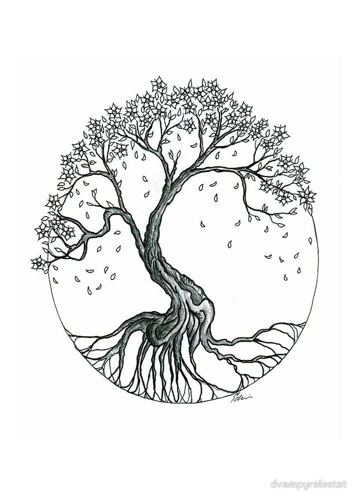 Abstract Cherry Blossom Tree By Dvampyrelestat Blossom Tree Tattoo Willow Tree Tattoos Tree Roots Tattoo