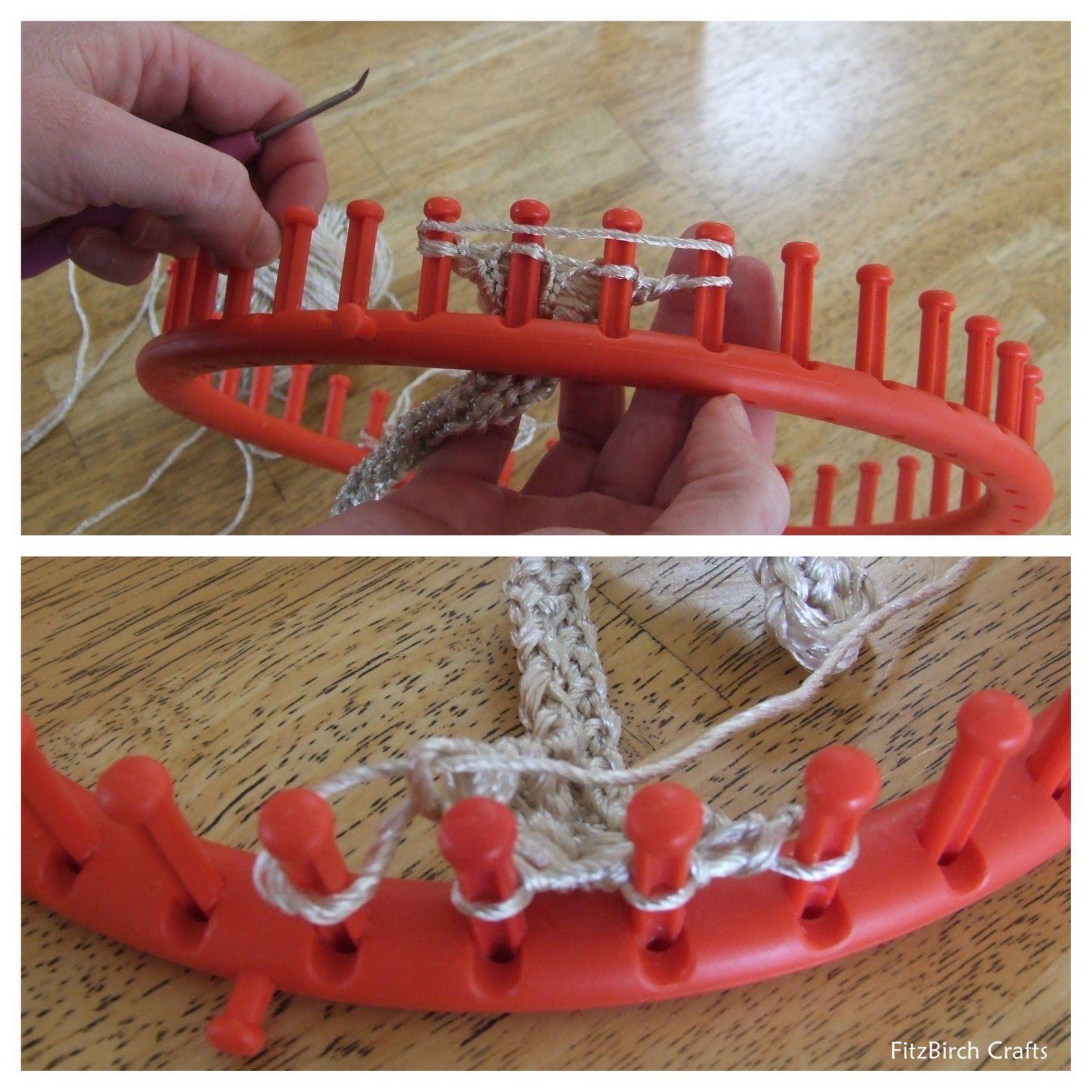 FitzBirch Crafts: Loom Knit Market bag | Telar | Pinterest | Craft ...