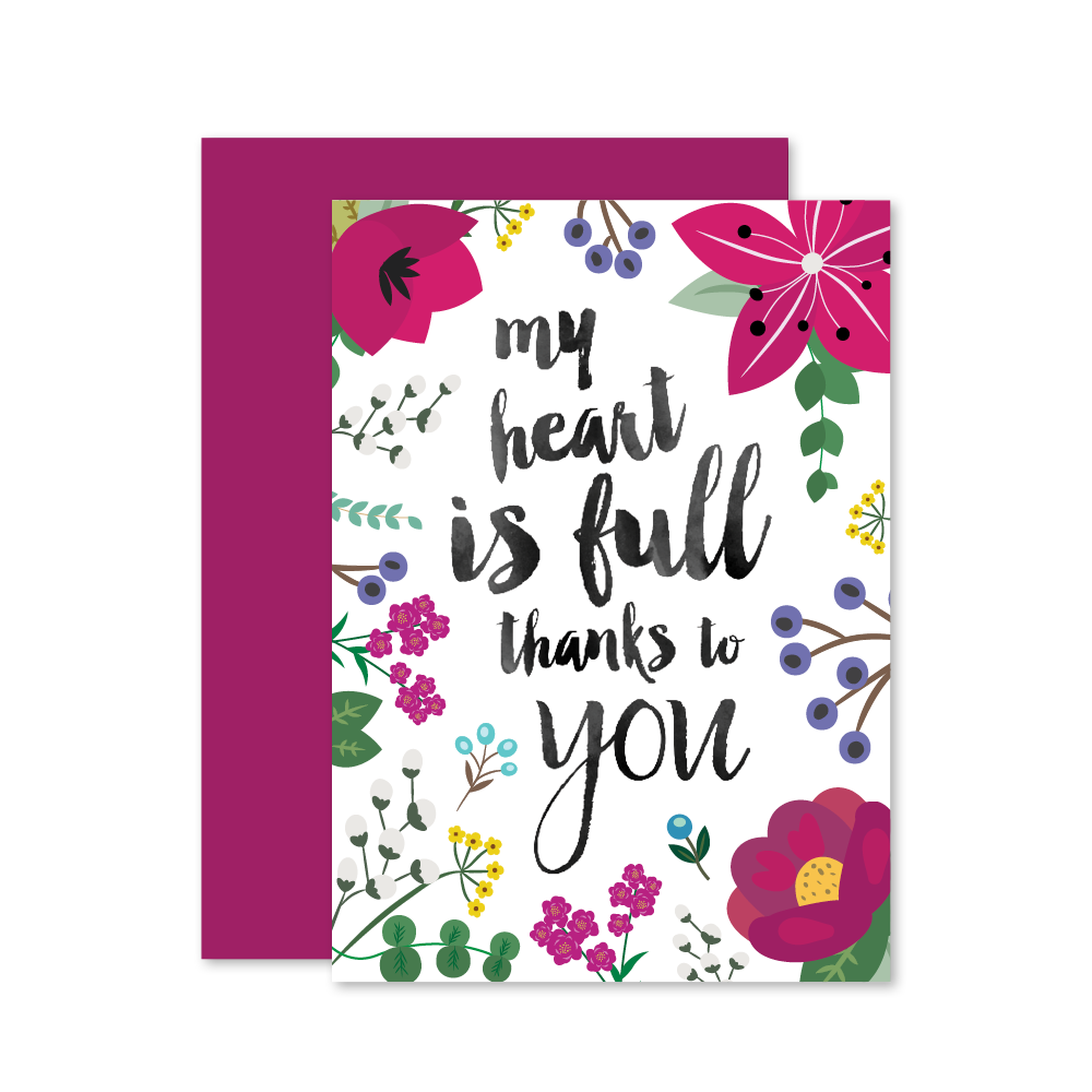 Heart is full thank you card feelin crafty pinterest crafty heart is full thank you card kristyandbryce Image collections