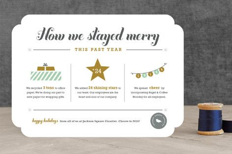 How We Stayed Merry - Year in Review Business Holiday Cards by - business review