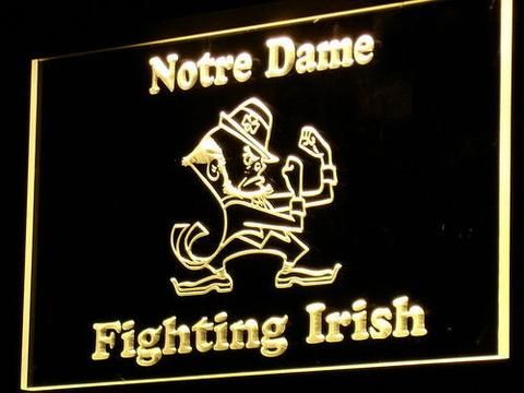 Bar Sign Or Man Cave Accessory Whether You Re Looking For A New Home Gift Cool Bedroom The Notre Dame Fighting Irish Led Neon Adds