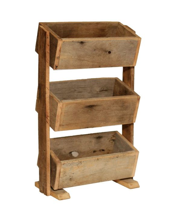 Stacked Planter Boxes Rustic Herb Planter By 400 x 300