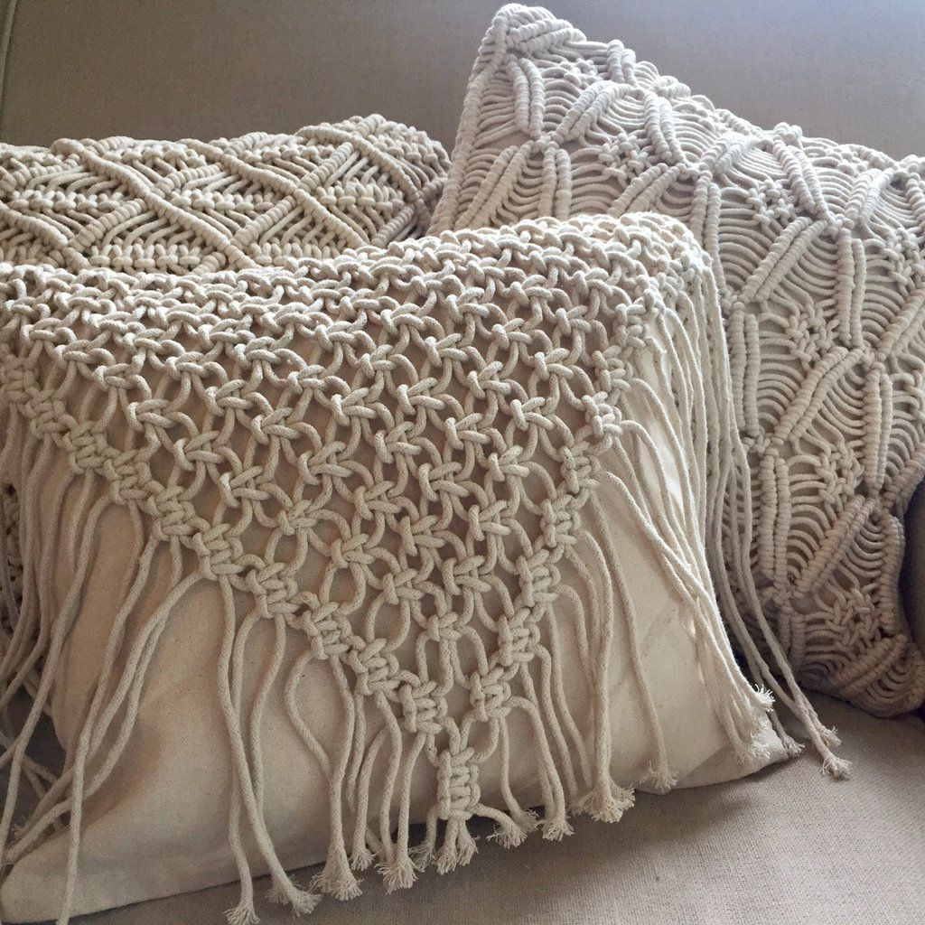 Macrame Cushion Cover Cowgirl Www Summerhousenz Co Nz Diy Pillows Knot Macrame Curtain Macrame Design Macrame Plant Hangers