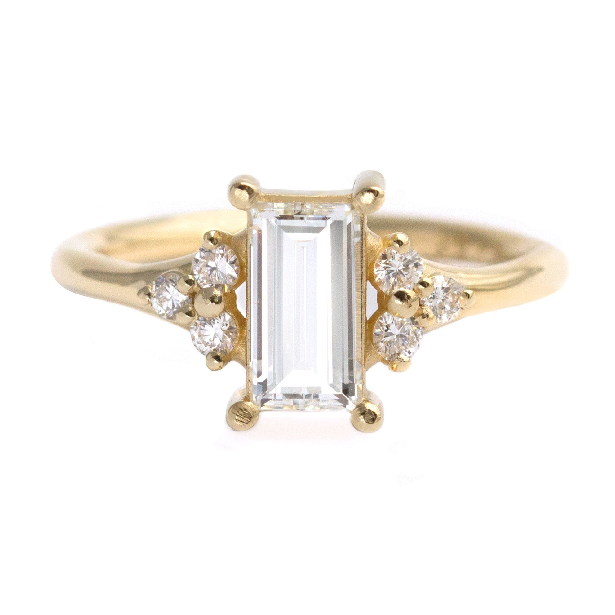 95cd5c0e8e5aab One Carat Baguette Diamond Engagement Ring in 2019 | Artemer Jewelry ...