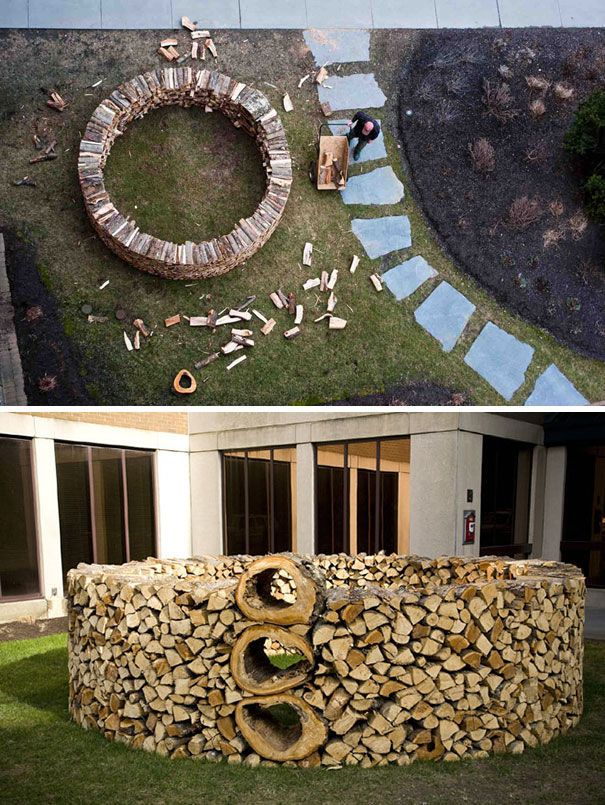 20 People Who Turned Piling Logs Into An Art Form Facebook Brennholz Holzstuck Holzblocke