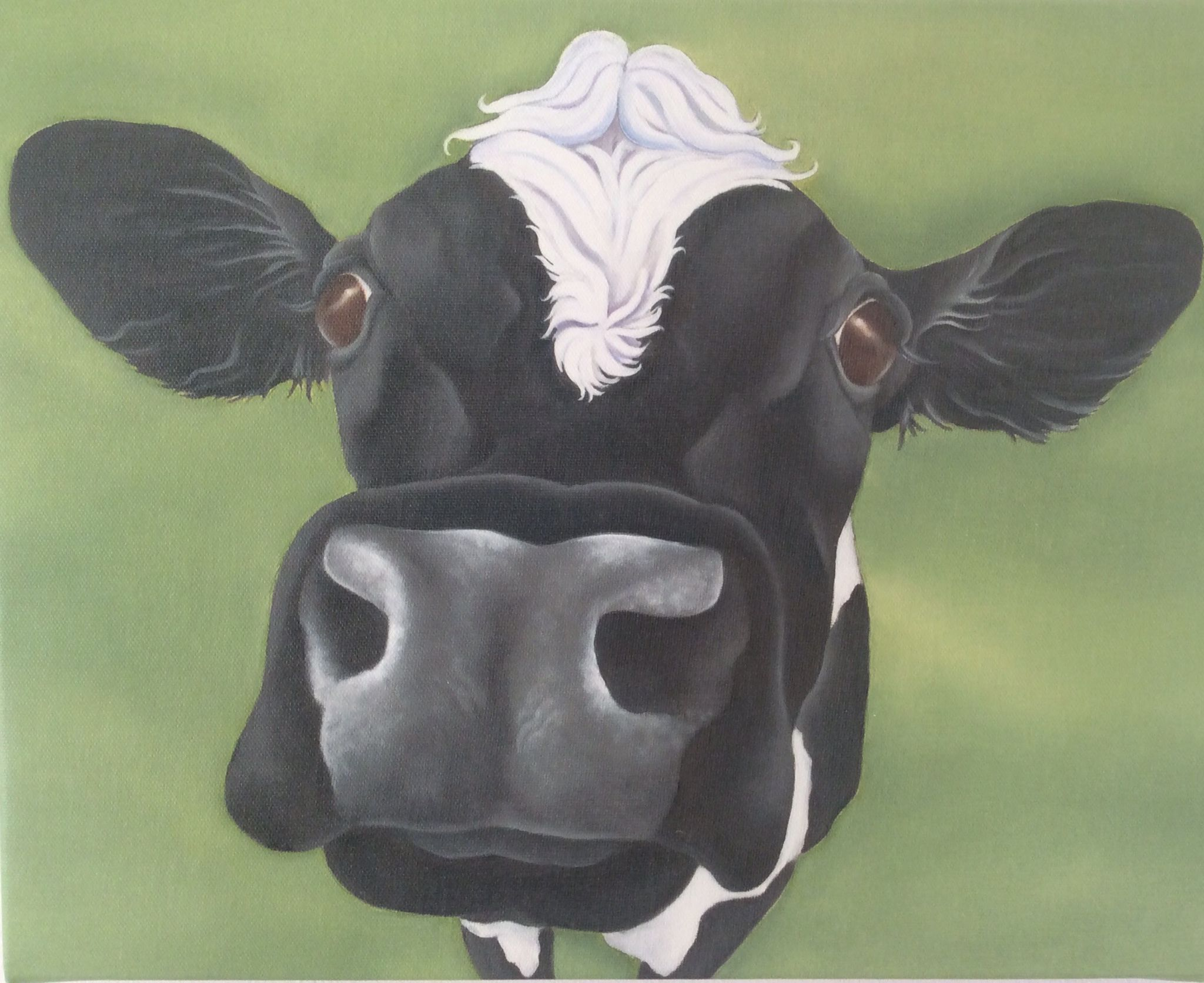 Copy Of Ivy The Friesian Cow Painting Animal Paintings Animal Art Cow