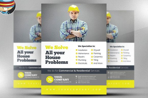 Handyman Flyer Template v2 by @Graphicsauthor Templates - handyman flyer template