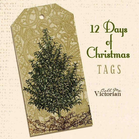 12-days-of-christmas-tags free printables...Day 1: Pear Tree Tag