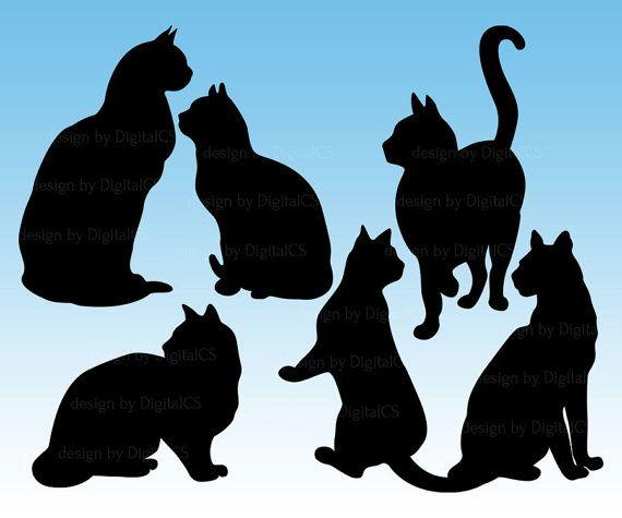 Cat Clipart Black Cat Clip Art Halloween Clipart Halloween Cat Catlover Cat Lover Vdigital Png Commercial Use Clipart In 2021 Cat Clipart Cat Silhouette Cat Quilt
