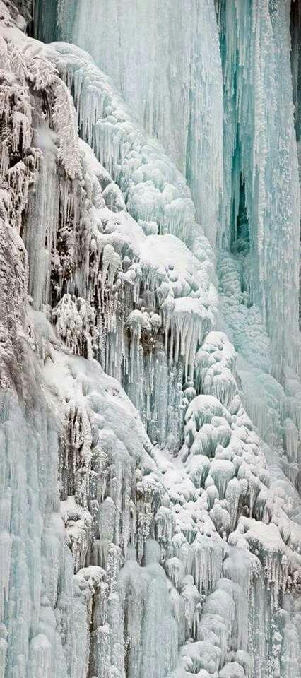 Frozen pitvicfalls