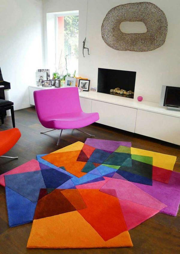 tapis multicolore design enredada