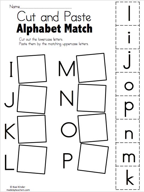 Alphabet Match I to P
