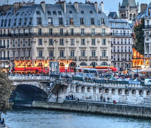 Evening in St. Michel Paris   France