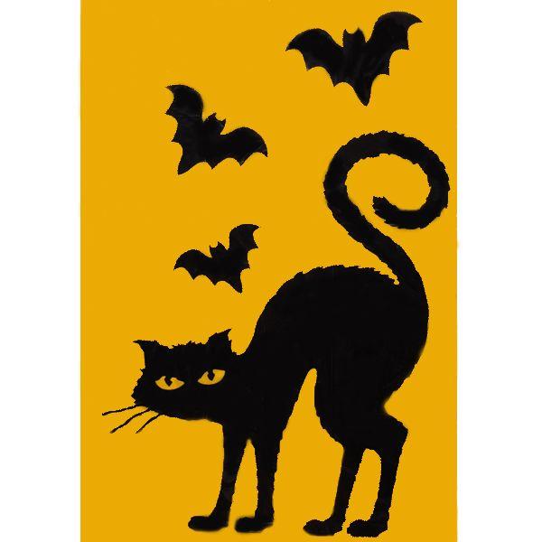 photo about Printable Halloween Window Silhouettes identify Halloween Window Decor #1 - Printable Halloween Window