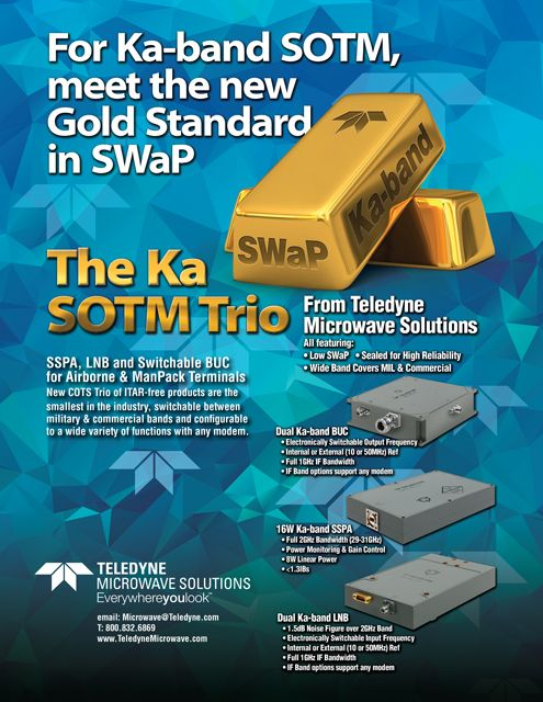 Teledyne Microwave The Gold Standard In Swap Ka Sotm Trio Solutions Sotm Print Ads