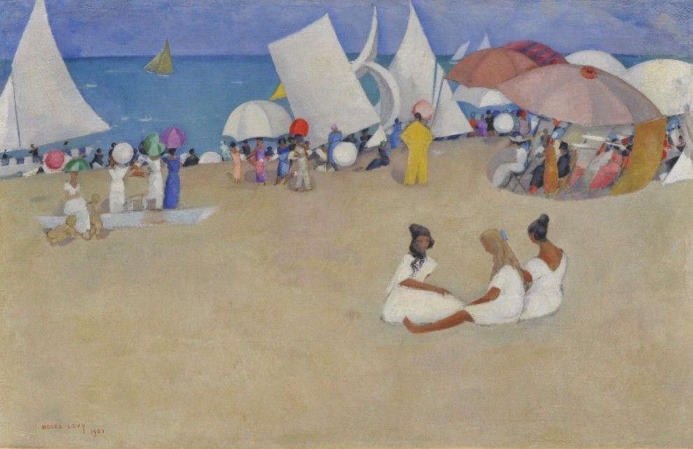 Al gran ballo del colore la Versilia felix di Levy Meriggio al mare, 1921