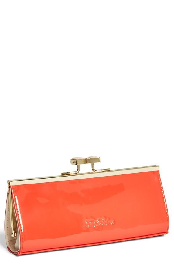 Ted Baker London Enamel Bow Clutch   Pop of Color   Bags, Ted baker ... 3f560a0af1