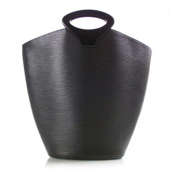 LOUIS VUITTON Epi Noctambule Tote Noir ❤ liked on Polyvore featuring bags, borse and handbags