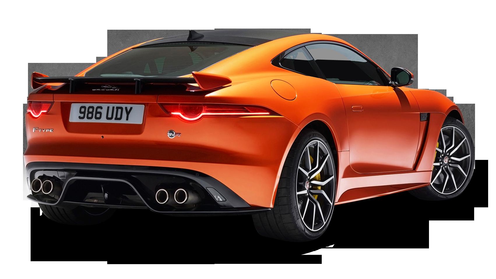 Orange Jaguar F Type Svr Coupe Back View Car Png Image Jaguar F Type Jaguar Jaguar Suv