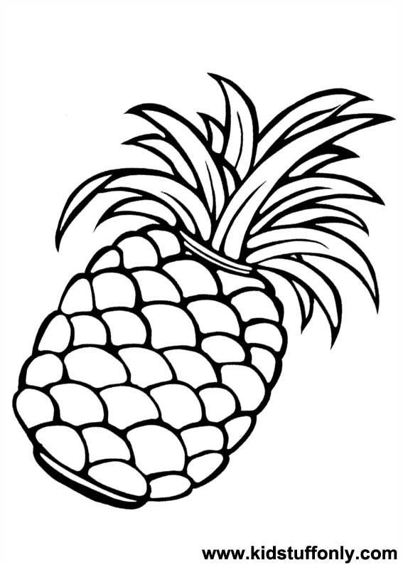 cloringpages Pineapple Coloring Page KId Stuff Only
