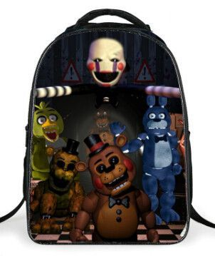 16 inch Cartoon Five Nights At Freddys School Bags Backpack