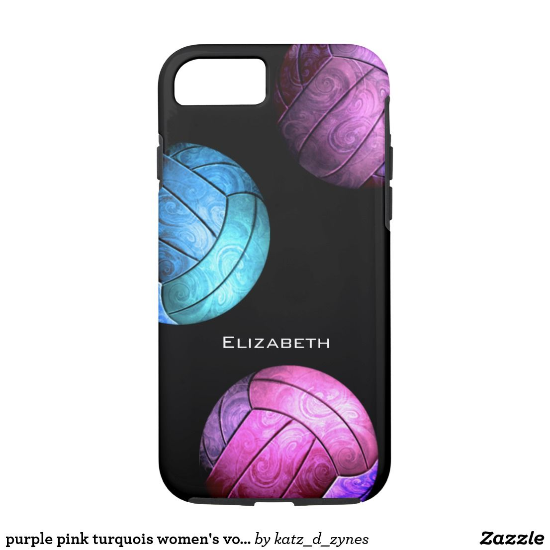 Purple Pink Turquois Women S Volleyball Case Mate Iphone Case Zazzle Com