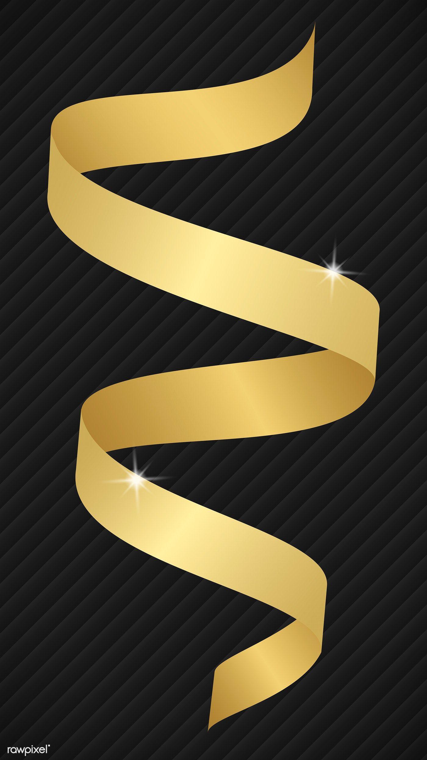 Download Premium Illustration Of Gold Ribbon Element Illustration 1234213 Gold Ribbons Illustration Ribbon Design
