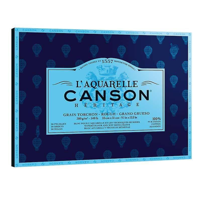 Canson L Aquarelle Heritage Watercolour Block Rough Paper 300gsm