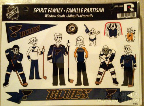St Louis Blues Family Spirit Stickers Decals Sheet Nhl Hockey