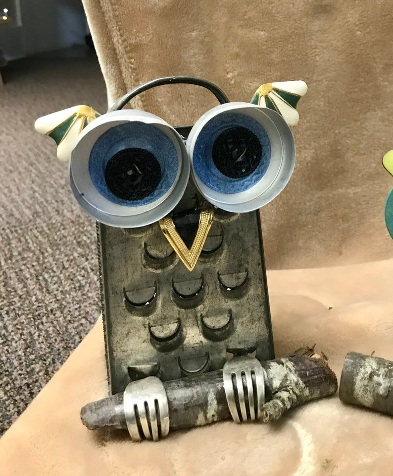 Box Grater Owl Repurposed Grater Recycled art Owl grater owl | Etsy