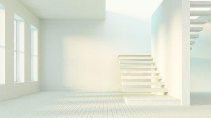 Simple of Stairs / 3D render image