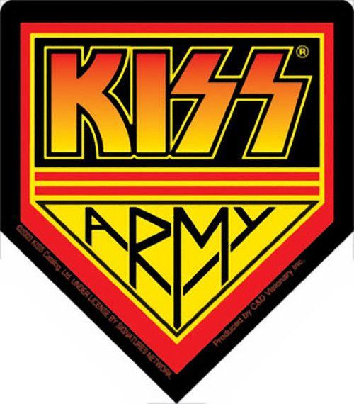 Kiss Army Logo Vinyl Sticker Kiss Logo Kiss Army Kiss Stickers
