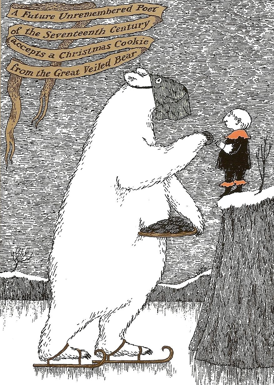 Edward Gorey - Great Veiled Bear Christmas Card | Edward Gorey ...
