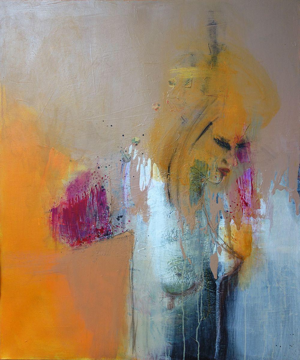 Beautiful Sadness // Mixed Media on Canvas // by Lydia Luczay