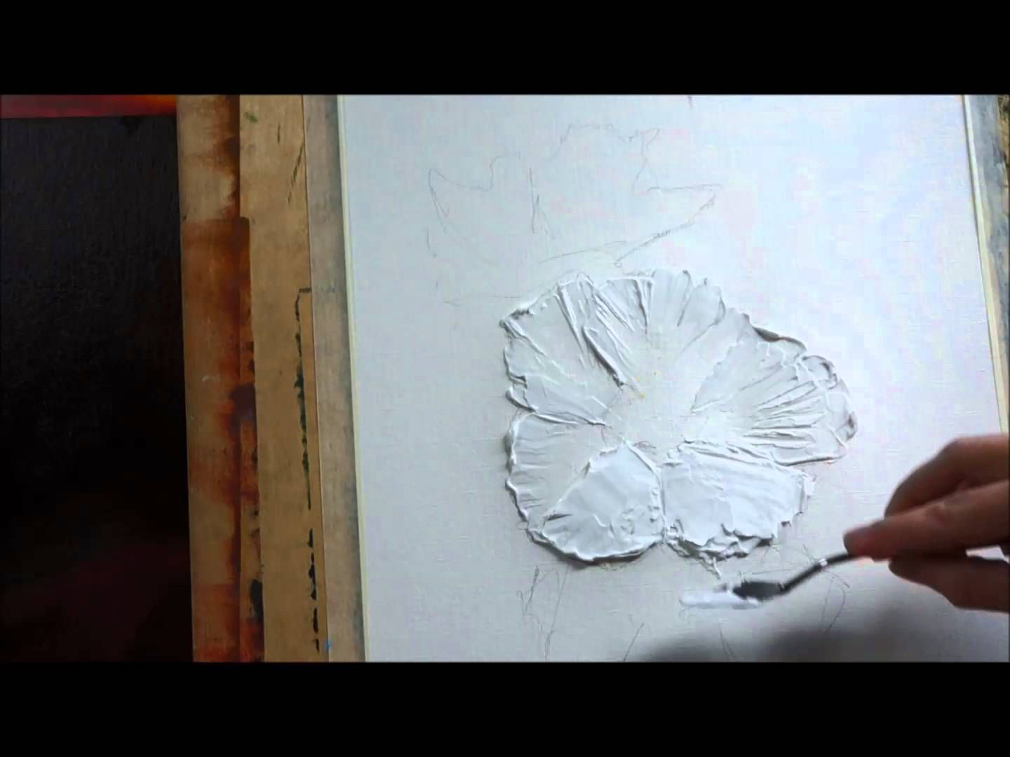 how to paint with palette knife creating a texture with