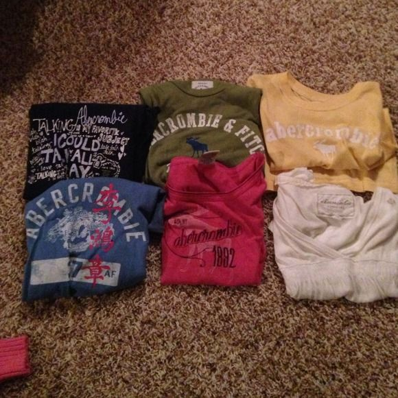BUNDLE Abercrombie t shirts All different sizes. 1-XL, 2-S, 3-M Abercrombie & Fitch Tops