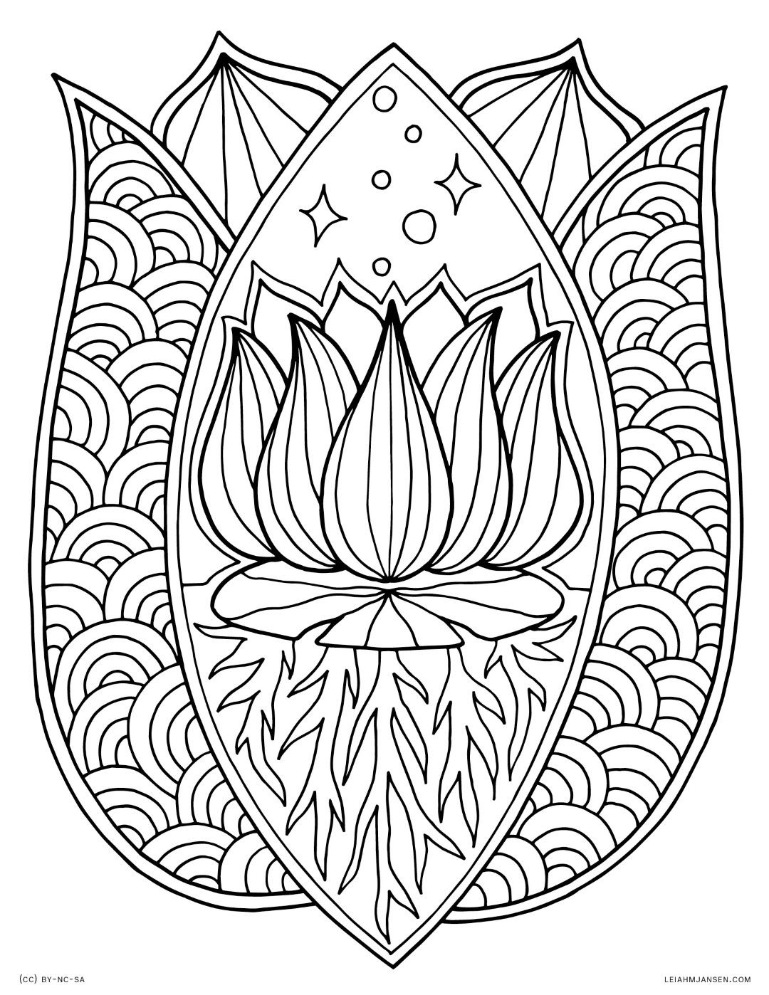 Flower Coloring Pages for Adults | Mandala coloring pages ...