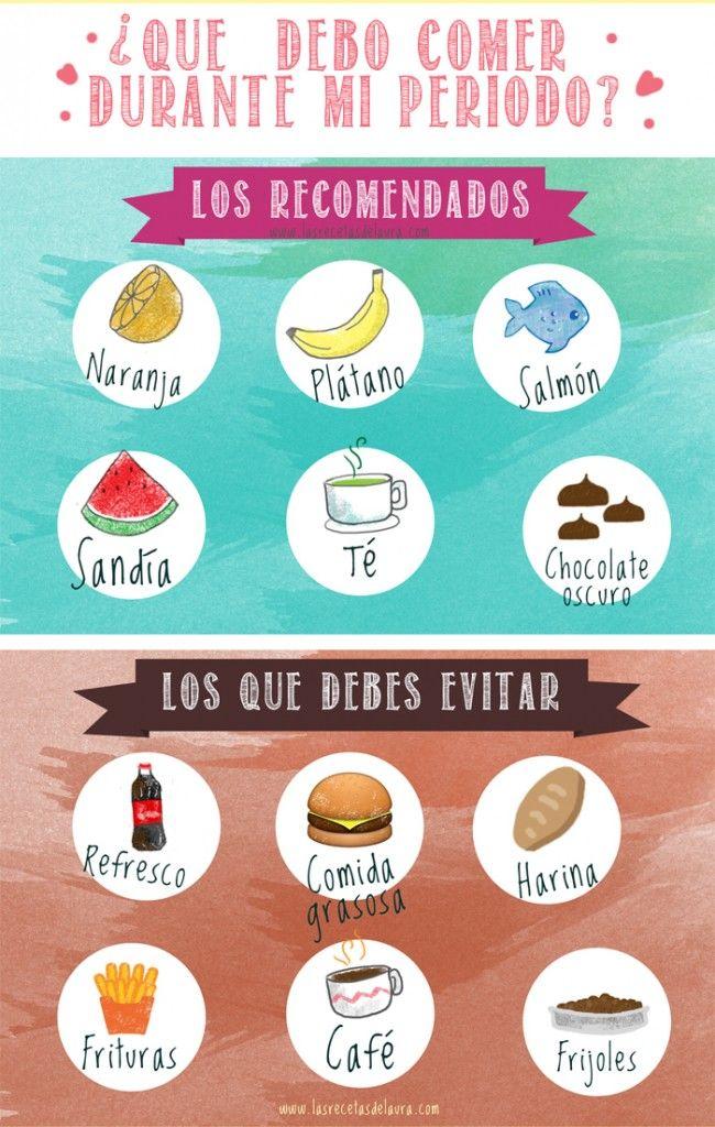 Lo Que Debes Y No Debes Comer En Tu Periodo Consejos Para La Salud Comidas Para Entrenamiento Tips Bajar De Peso