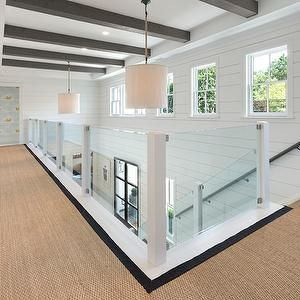 Best Glass Stair Railing Transitional Entrance Foyer Blue 640 x 480